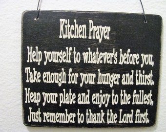 2431 Kitchen Prayer plaque