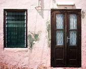 Pink House, fine art photography, travel photo, Caribbean worn down house, urban street wall art