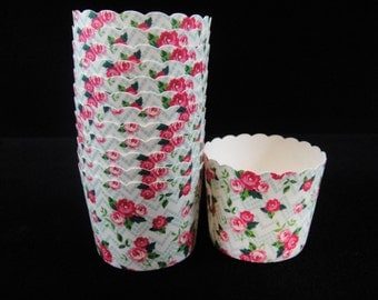 Rose Baking Cups, Candy Cups, Dip Cups, Nut Cups, Weddings, Party Cups, Candy Buffets, Wedding Cupcakes, Party Favors, Baking Cups Qty 12