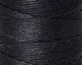 Tools & Supplies-4-Ply Irish Linen Cord-Waxed-Black-Crawford Threads-Quantity 100 Yards