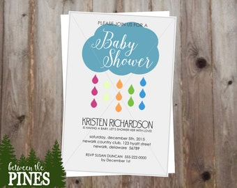 Baby Shower Invitation (Cloud)