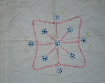 Vintage Handstitched Pillow Cover