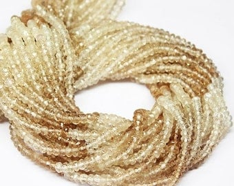 VALENTINE SALE 55% Imperial Topaz Faceted Rondelle Beads Strand, 13 inches, 4mm, SKU9026/S