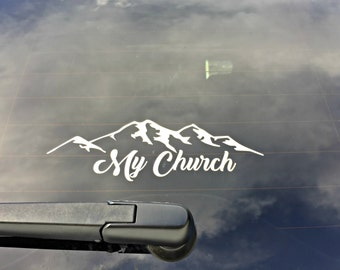 My Church Mountain Decal