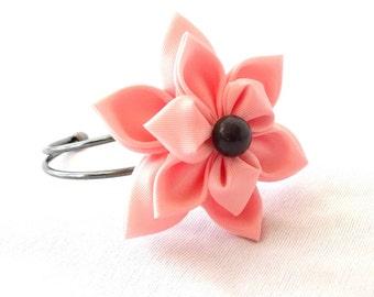 Pretty Pink Taffeta Flower Bracelet 3d Corsage