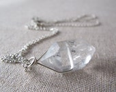 Herkimer Diamond Necklace Sterling Silver