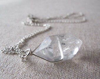 Herkimer Diamond Necklace Sterling Silver