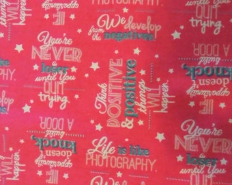 Sewing sayings etsy for Sewing fabric for sale