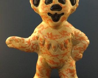 Ceramic Standing Dancing Bear Tobacco Spoon Pipe