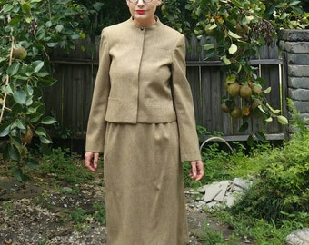 Vintage 1980's Howard Wolf skirt and jacket suit size small
