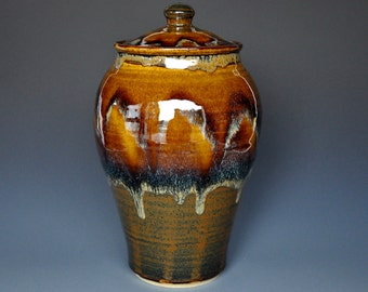 Sunset Stoneware Ceramic Jar Pottery Jar Ceramic Canister A