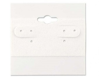 White Earring Cards - 100 Pcs
