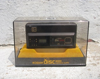 vintage kodak disc 8000 camera 1980s electronics with box