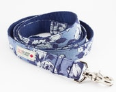 Chambray Blue Floral Dog Leash - Liberty of London
