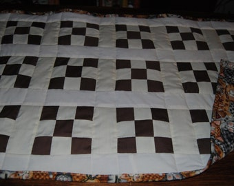 """21""""x34"""" machine quilted doll quilt"""