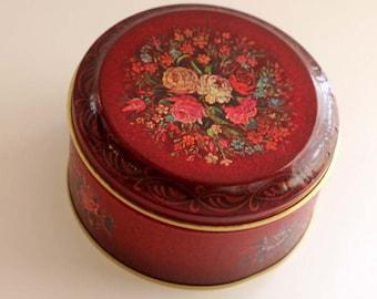 Vintage red tin