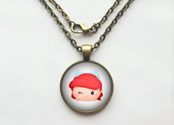 Ariel from The Little Mermaid Tsum Tsum Necklace or Keychain