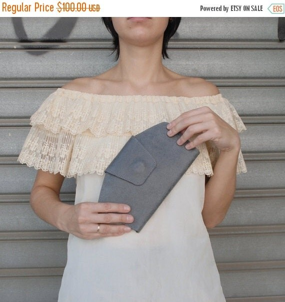 Summer SALE, Gray leather wallet, Gray leather clutch, leather wallet Women,handmade wallet, wallet leather women, Distressed leather wallet