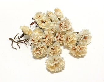 One Lot BEIGE Mini Mums - Flower Crown, Halo, Woodland Crown, Artificial Flowers, Silk Flowers, Millinery