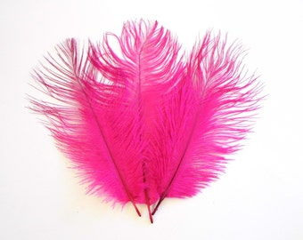SALE Bright Pink Ostrich Feathers WAS 4.50 NOW 3.50