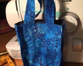 Blue Butterfly Reusable Gift Tote