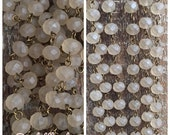 sale American Artisan assembled Handmade Beaded Chain opaque BEACH SAND roundel 8x6mm Faceted Crystal Beads