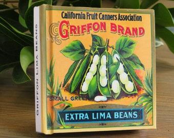 Garden Journal - Griffon Brand Lima Beans -Canned Goods Art Print Cover