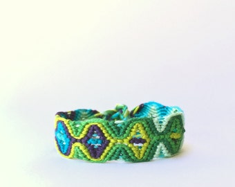 Lace friendship bracelet