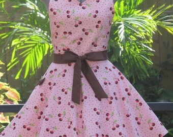 Cherries Covered in Chocolate Sweetheart Apron - Full of Twirl Flounce