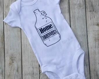 Home Brewed, 6, Onesie, bodysuit, baby, shirt, beer, children clothing, tops