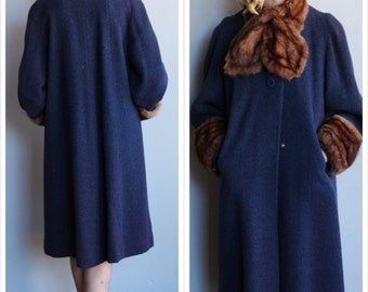 1940s Coat // Morris B. Sachs Wool Coat // vintage 40s winter coat