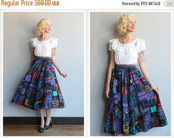 Sale 1980s Skirt // Mexican Patchwork Skirt // vintage 80s skirt