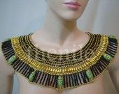 Huge  Egyptian  Queen Cleopatra Necklace 9 Scarab Mega Sale