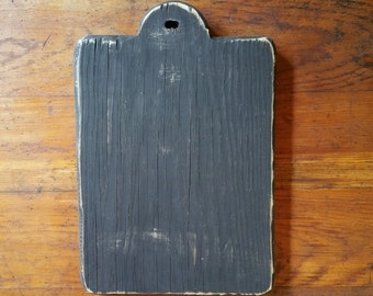 """Reclaimed Wooden Chunky """"HORNBOOK"""" Finishing Boards-  For Displaying Stitching And  Crafting"""