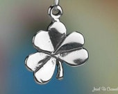 Sterling Silver Shamrock Charm Irish Clover Holy Trinity Solid .925