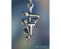 Vet Tech Charm Veterinary Technician Symbol Sterling Silver Solid .925