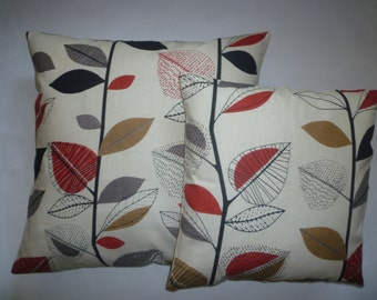 Red Pillows PAIR 22 and 16 inch Designer Cushion Covers Pillowcases Shams Slips Scatter.