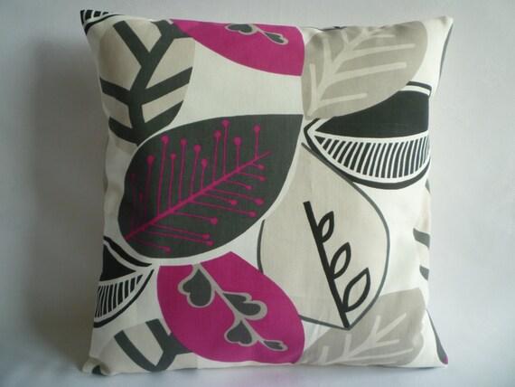 BIG 20 Pillow Cover Euro Sham Fuschia Pink Black Grey