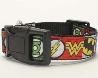 Handmade Superhero Super Hero Dog Collars Choke Collars Dog Supplies 26 -55 mm Length