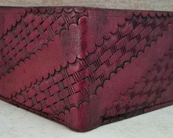 Western Basket weave Bi-Fold Wallet
