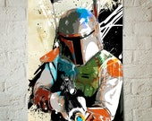 Star Wars Art - Boba Fett - Star Wars Poster, Art Print, Boba Fett print, Fan Art, Illustration, Star Wars Print, Watercolor, Star Wars Gift