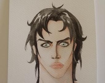 Boy portrait watercolor