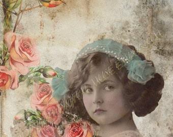 Victorian Beauty  Instant Download Vintage Photograph