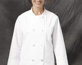 Woman chef coat - jacket - white - - Birthday- MOTHER'S DAY
