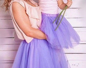 Mother and Daughter Tutu Skirts Set, Mommy and Me Skirts, Color of Your Chose