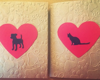 Set of 10, Pet/Dog/Cat Sympathy Cards