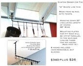 CUSTOM ORDER Hand Forged Iron Pot Rack by VinTin