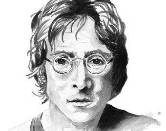 John Lennon watercolour print