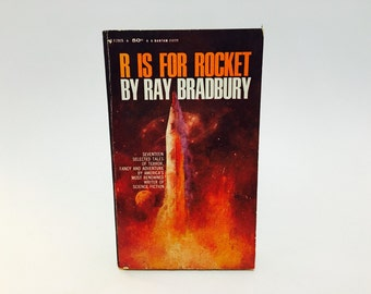 Vintage Sci Fi Fantasy Book R is for Rocket by Ray Bradbury 1965 Paperback Anthology