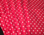 Cloth Napkins, Reusable Napkins, Eco Friendly Napkins, Pack Of 6 Napkins, Valentines Day, Pink Napkins, Cloth Wipes, Pink Polka Dots